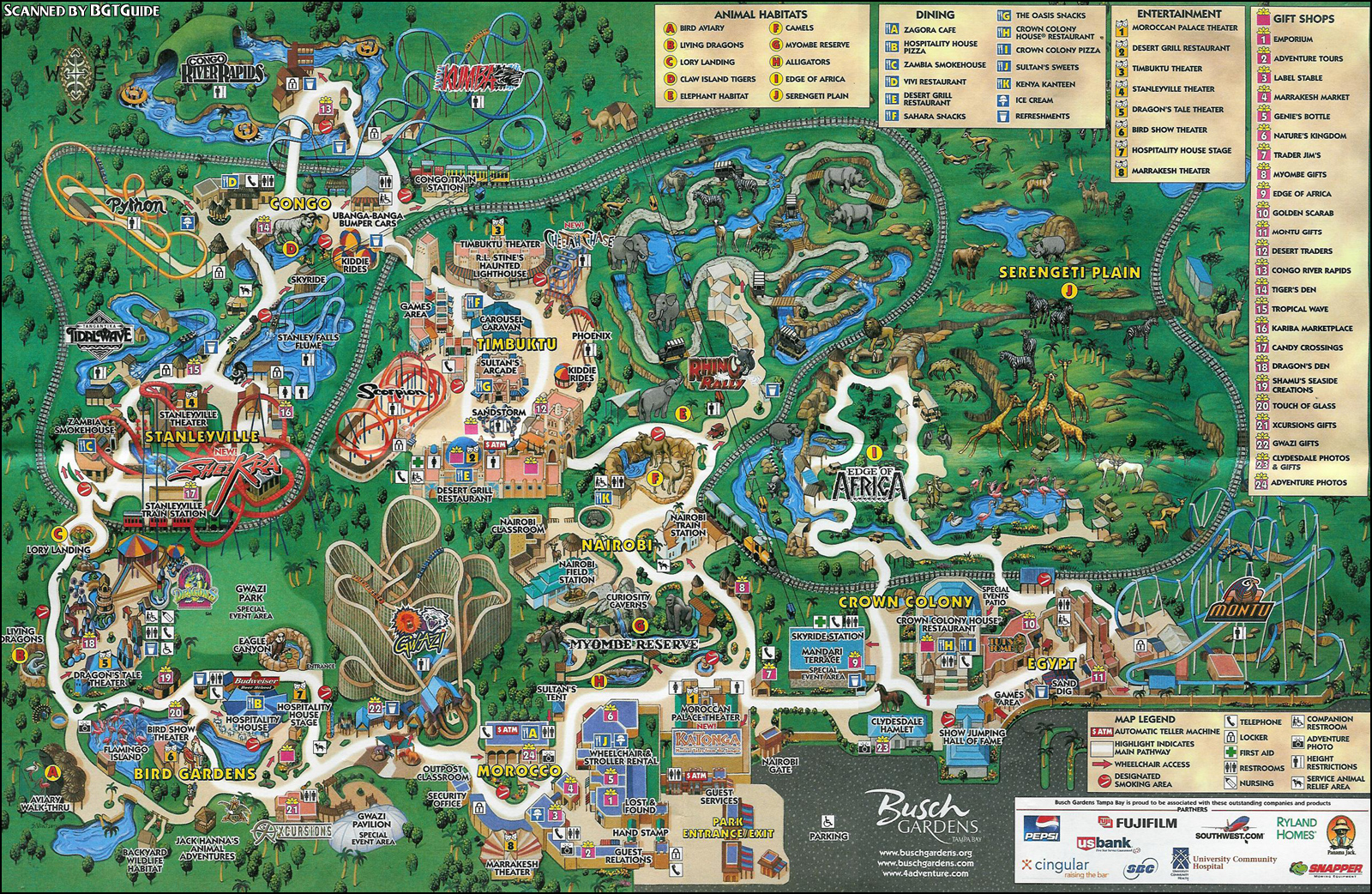 Busch Gardens Tampa Fl Central Florida Entertainment Busch