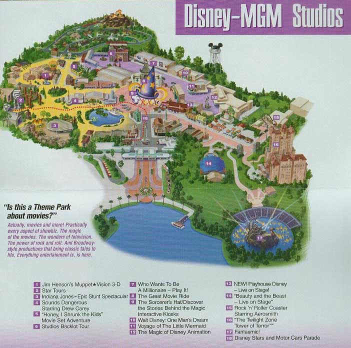 DisneyMGM Studios Florida Theme Parks Com - Map of all us theme parks