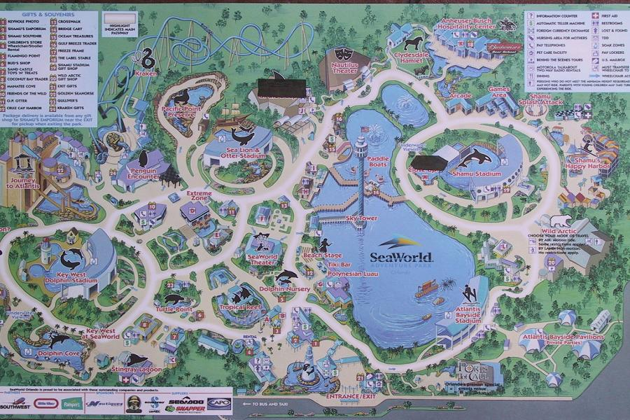 sea world florida map 2018
