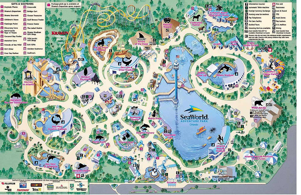 SeaWorld Orlando Map
